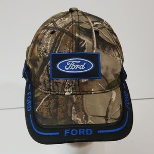 Ford Logo Camo Camouflage Hat Adjustable Strap